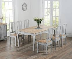 shabby chic dining set buy the parisian 175cm grey shabby chic dining table with chairs at