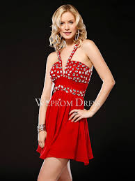 rectangle petite natural v neck red black satin a line red prom