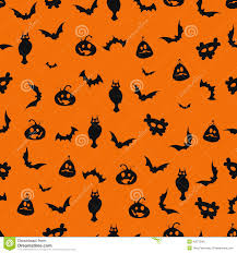 halloween background designs seamless black and orange halloween background stock vector