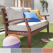 decor impressive christopher knight patio furniture with remodel yasawa brown modern outdoor cushioned wood loveseat by napa living
