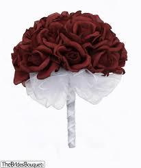 2 dozen roses burgundy silk wedding bouquet 2 dozen silk roses
