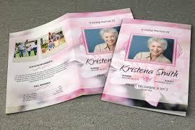 sle of funeral programs funeral program template memorial program template order of