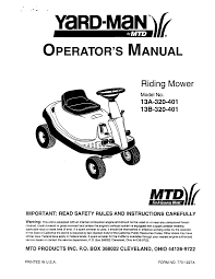 yard man lawn mower 13a 320 401 user guide manualsonline com