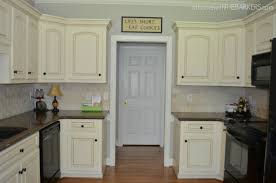 White Glazed Kitchen Cabinets Kitchen Makeover Part 1 The Paint At Home With The Barkers