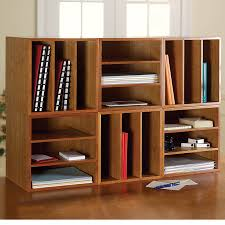 Desk Organizer Shelf Cubi Desk Bookcase Wood Bookcase Stackable Storage Levenger