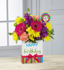 flowers birthday simply flowers the ftd birthday brights bouquet los angeles ca