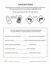 what are conjunctions worksheet education com