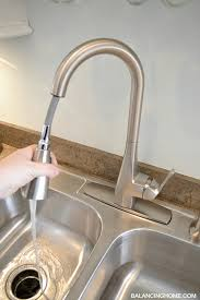 moen quinn kitchen faucet our brand spankin new moen faucet balancing home with megan bray