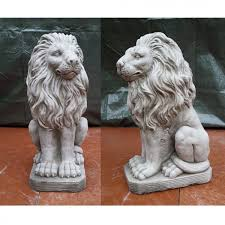 lions statues cast lion statues pair onefold uk