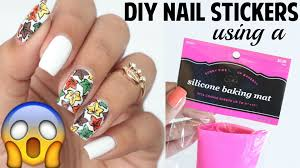 diy nail polish stickers using a baking mat nailsby ana youtube