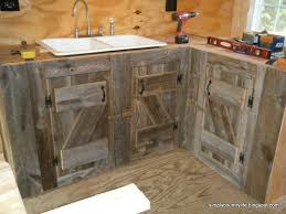 Home Built Kitchen Cabinets by Barnwood Kitchen Cabinets 5355