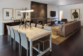 dining room modern artistic living and dining room idea with cozy