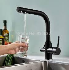 kitchen faucet black finish black finish kitchen sink faucet dual handles centerset mixer