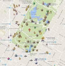 Map Of Pokemon World by Pokemon Go Map Service On Steem Central Park U2014 Steemit