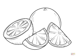 Oranges Coloring Pages Free Coloring Pages Cut Coloring Pages