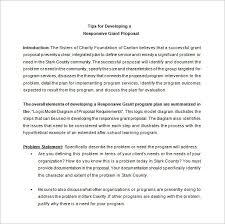 grant proposal template u2013 12 free sample example format