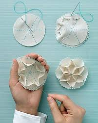 119 best folded fabric ornaments images on folded