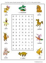 spanish for kids shapes printout spanish worksheets for children