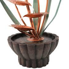 Copper Flower Vase Sunnydaze Copper Flower Petals With Five Tier Leaves Outdoor Water