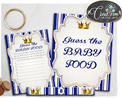 royal blue baby shower game guess the baby food for little