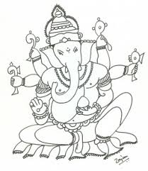 with blessings of lord ganesha rajan draws