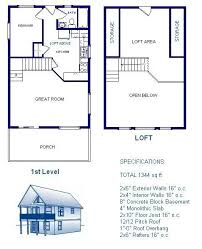 house plans with material list 20x30 cabin w loft plans package blueprints material list loft