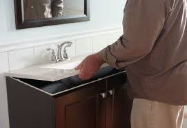 How To Install A New Bathroom Vanity by How To Install A Bathroom Vanity The Home Depot Community
