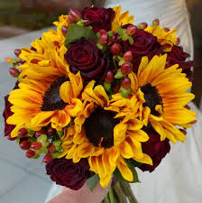 sunflower bouquets fall color bouquets for weddings search fall wedding