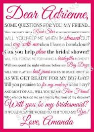 bridesmaid poems to ask ask of honor card purple chalk printable file only be in