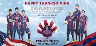 happy thanksgiving from fc barcelona fc barcelona