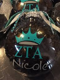 zta christmas ornament zeta tau alpha sorority ornament greek