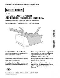 1994 craftsman garage door opener manualcraftsman garage door