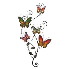 Butterfly 3d Wall Art by Shop Woodland Imports 22 In W X 31 In H Frameless Metal