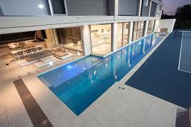 how to build a lap pool modern lap pool installation in brisbane norfolk pools