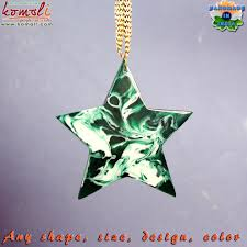green marble effect handmade acrylic resin flat glass