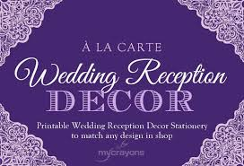 wedding program designs matching printable wedding reception stationery any design in