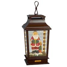 premier 40cm led musical lantern father christmas charlies direct