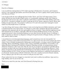 jp morgan cover letter single for a reason