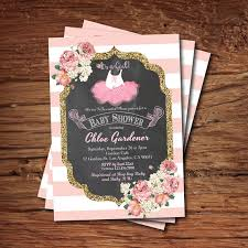 ballerina baby shower invitations ballerina baby shower invitation tutu baby girl shower