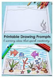 free printable scenery drawing prompts to spark kids u0027 creativity