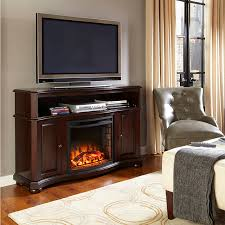 Amish Electric Fireplace Pleasant Hearth Merrill Electric Media Fireplace Merlot Finish