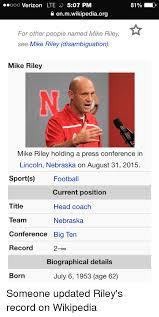 Nebraska Football Memes - 25 best memes about mike riley mike riley memes