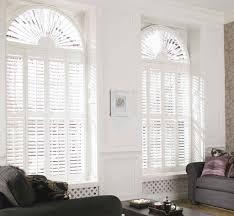 three layers window treatment idea for arched window decofurnish
