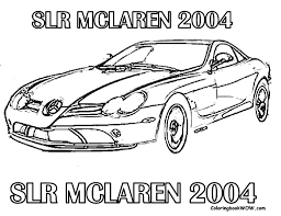 mercedes slr mclaren cool car coloring pages book for bebo pandco