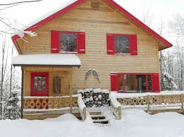beautiful chalet in northern vermont near jay peak cabins for