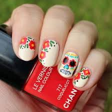best 10 sugar skull nails ideas on pinterest skull nail designs