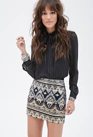 sequin skirt forever 21 tribal inspired sequin skirt where to buy how to wear