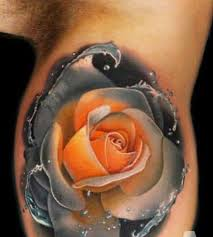 rose tattoo design idea made by andres acosta