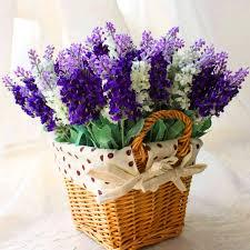 Pcs WhitePurple Simulation Lavender Artificial Flowers Home - Flowers home decoration