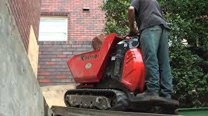 sydney mini dig excavators backyard excavating via stair access